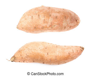 Sweet potato plant isolated - Sweet potato plant or Ipomoea...
