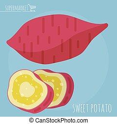 Sweet potato vector icon