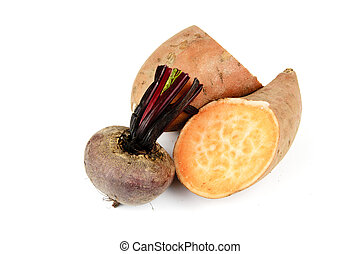 Sweet Potato with Beetroot