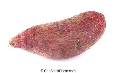 sweet potatoes an isolated on the white background