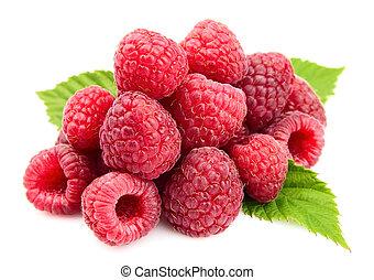 Sweet raspberry close up