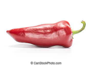 Sweet red bell pepper isolated on white
