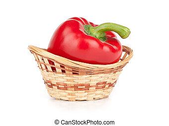 Sweet red pepper in closeup