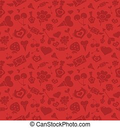 Sweet Red Valentine Pattern