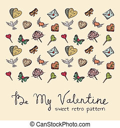 sweet retro seamless Valentine pattern