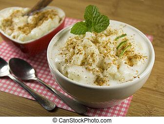 Sweet rice pudding