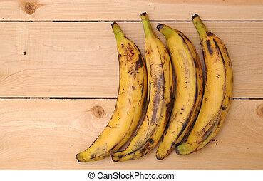 plantain bananas - sweet ripe plantain bananas with open...