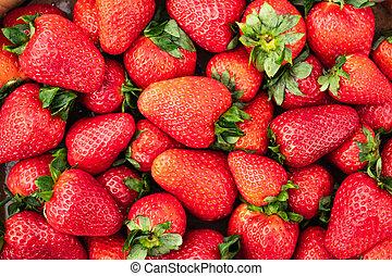 Sweet ripe strawberry closeup