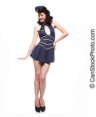 Sailor Pin Up Style Retro Girl - Sweet Sailor Pin Up Style ...