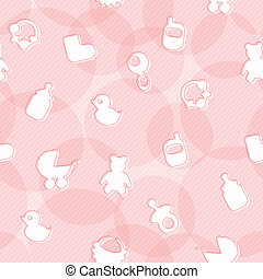 Sweet Seamless Pattern with Baby Items