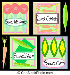 Sweet Seeds - Illustration of spring seed packets. Sweet ...