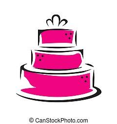 Sweet Shop cake logo template design vector Illustration