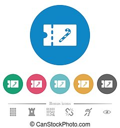 Sweet shop discount coupon flat round icons - Sweet shop...