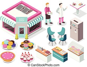 Sweet Shop Isometric Set