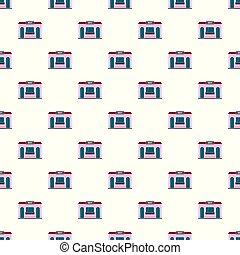 Sweet shop pattern seamless vector