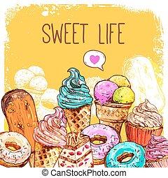 Sweet Sketch Illustration