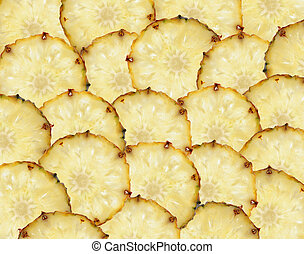 sweet slices of pineapple fruit such as food background