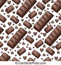 Sweet Snack Seamless Pattern Chocolate Bar Block Wallpaper Repeatable
