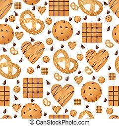 Sweet Snack Seamless Pattern Cookie Wallpaper Repeatable