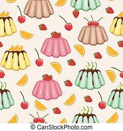 Sweet Snack Seamless Pattern Fruit Jelly Gelatin Wallpaper Repeatable