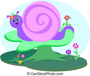 Sweet Snail in the Forest