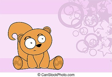 sweet squirrel cartoon background