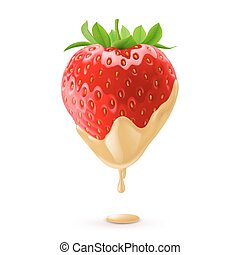 Sweet Strawberries - Big Fresh Strawberry Dipped in White...