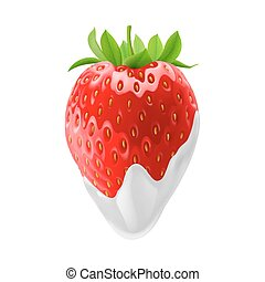 Sweet Strawberries - Strawberry Dipped in Sour Cream....
