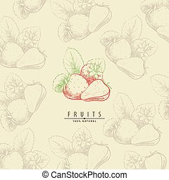 Sweet strawberry illustration