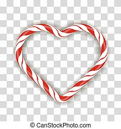 Sweet Striped Candy Heart Frame