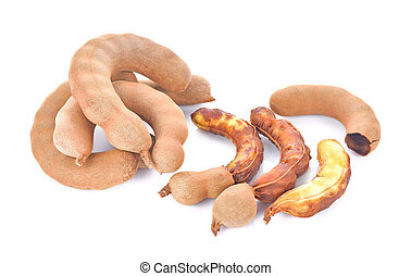 Sweet tamarind on a white background