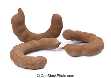 Sweet Tamarind on white background.