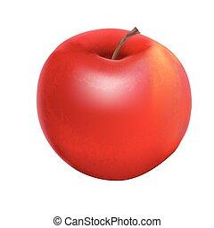 Sweet Tasty Apple Vector Illustration. EPS10