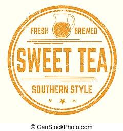 Sweet tea sign or stamp