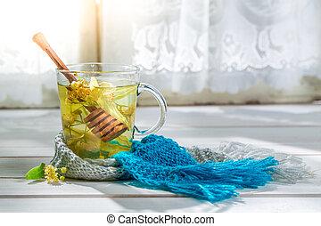 Sweet tea with honey