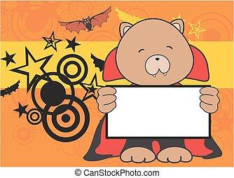 sweet teddy bear dracula costume