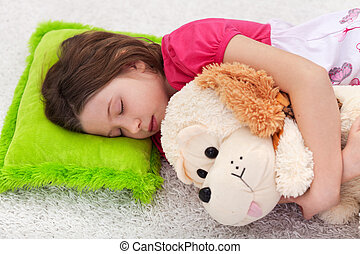 Sweet tranquility - young girl sleeping - Sweet tranquility...