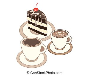 sweet treat - a vector illustration in eps 8 format of two...