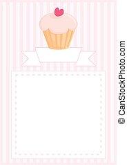 Sweet vector cupcake