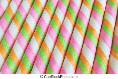 sweet wafer rolls