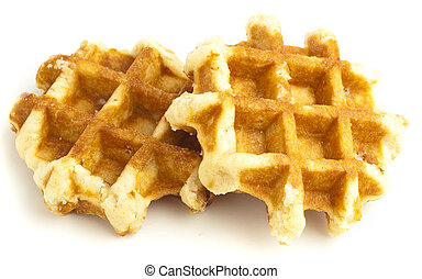 waffle - sweet waffle isolated on a white background