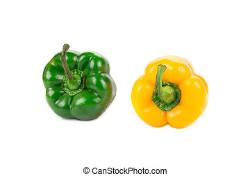 Sweet yellow and green pepper.