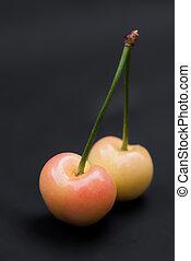 Sweet yellow cherries