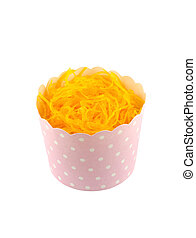 sweet yellow cupcake