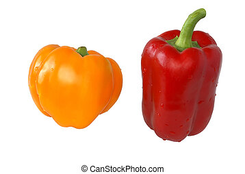 Sweet yellow, red, pepper.