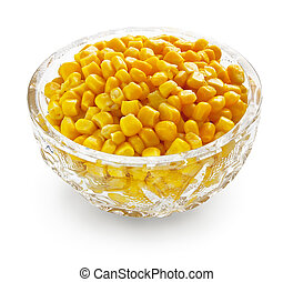 Sweetcorn in crystal bowl