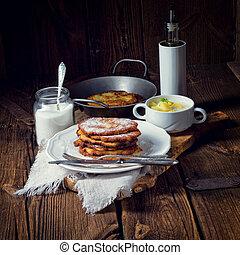 sweetened potato pancakes