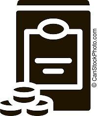 Sweetener Bottle glyph icon vector. Sweetener Bottle Sign. isolated symbol illustration