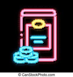 Sweetener Bottle neon light sign vector. Glowing bright icon Sweetener Bottle sign. transparent symbol illustration