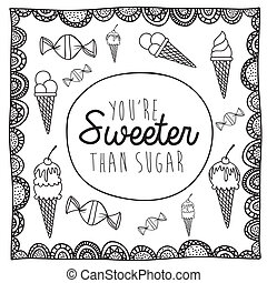 sweeter drawing over white background vector illustration